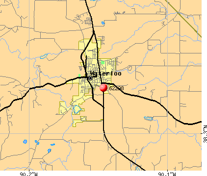 Waterloo, IL (62298) map
