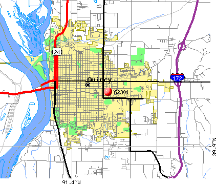 Quincy, IL (62301) map