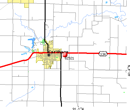 Carthage, IL (62321) map