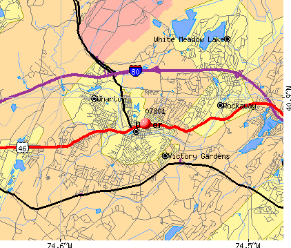 07801 map