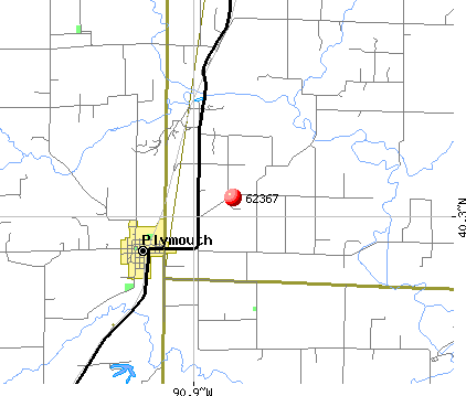 Plymouth, IL (62367) map
