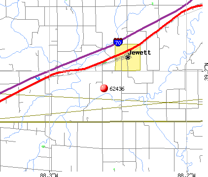 Jewett, IL (62436) map
