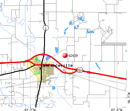 Lawrenceville, IL (62439) map