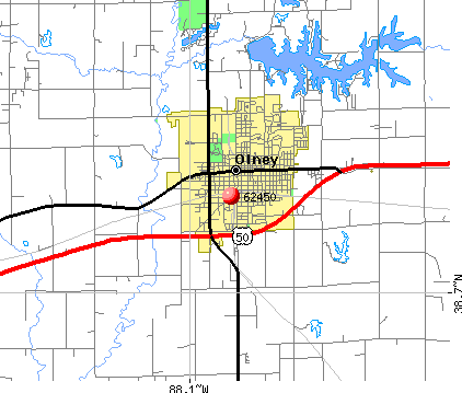 Olney, IL (62450) map