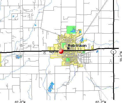 Robinson, IL (62454) map