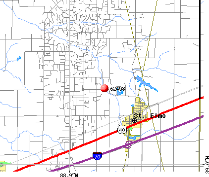 St. Elmo, IL (62458) map