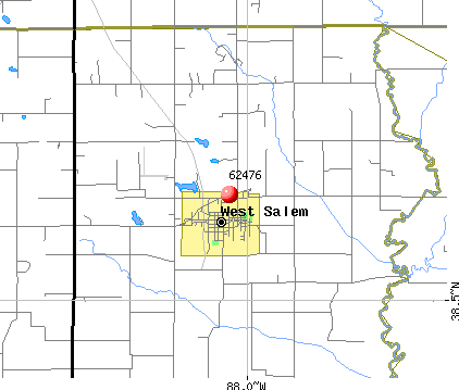 West Salem, IL (62476) map