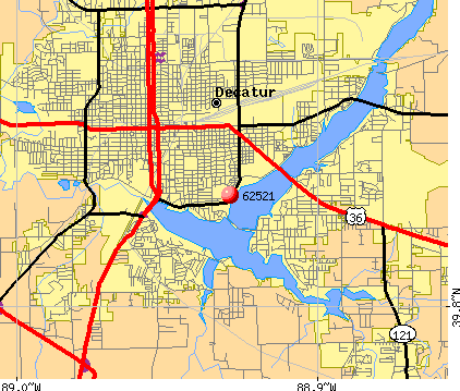 Decatur, IL (62521) map