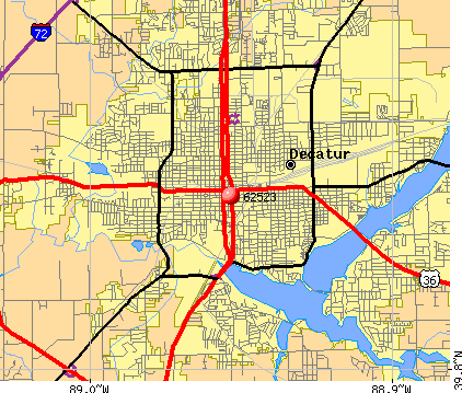 Decatur, IL (62523) map