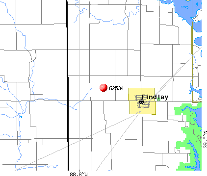 Findlay, IL (62534) map
