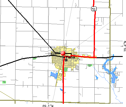 Pana, IL (62557) map