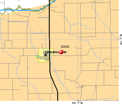 Greenview, IL (62642) map