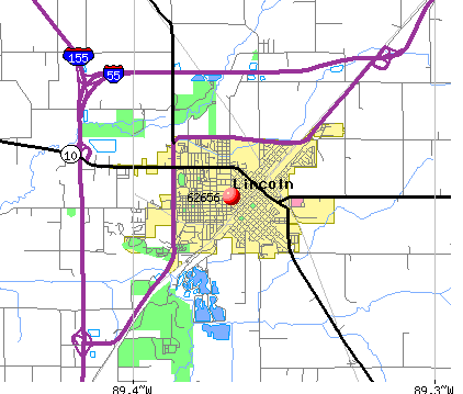 Lincoln, IL (62656) map