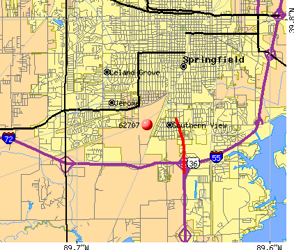 Springfield, IL (62707) map