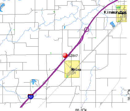 Alma, IL (62807) map