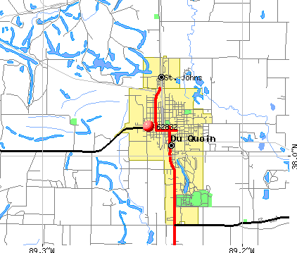 Du Quoin, IL (62832) map
