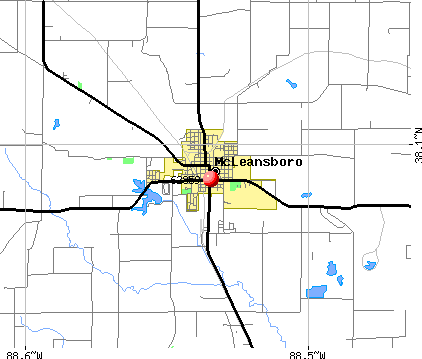 McLeansboro, IL (62859) map