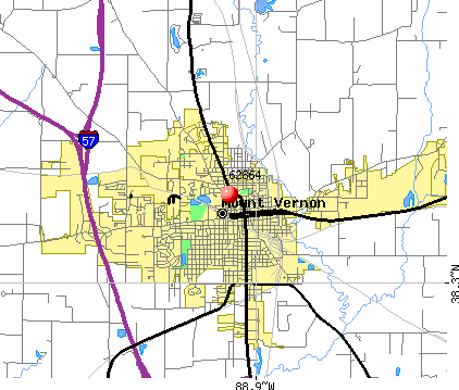 Mount Vernon, IL (62864) map