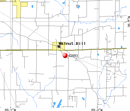 Walnut Hill, IL (62893) map