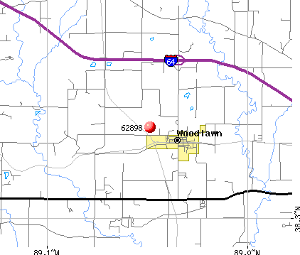 Woodlawn, IL (62898) map
