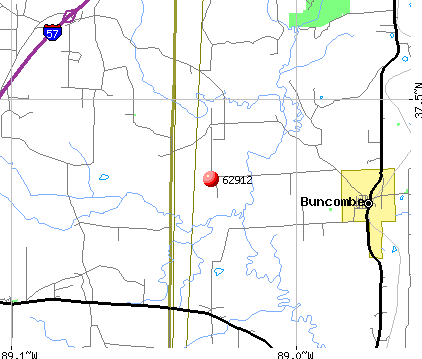 Buncombe, IL (62912) map