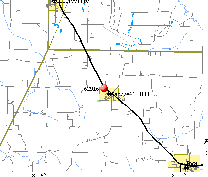 Campbell Hill, IL (62916) map