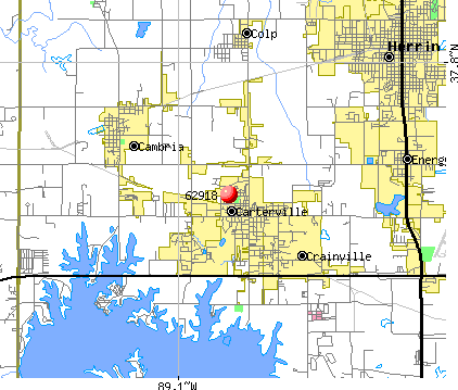 Carterville, IL (62918) map