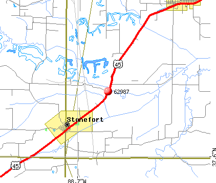 Stonefort, IL (62987) map