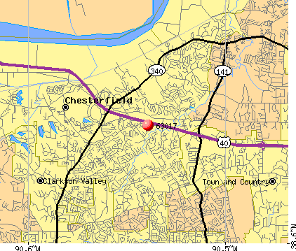 Chesterfield, MO (63017) map