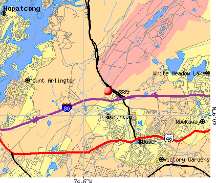 Wharton, NJ (07885) map