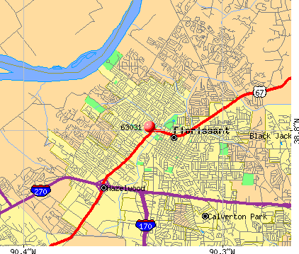 Florissant, MO (63031) map