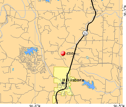 Hillsboro, MO (63050) map