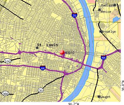 St. Louis, MO (63103) map