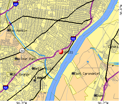St. Louis, MO (63111) map