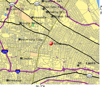 St. Louis, MO (63112) map