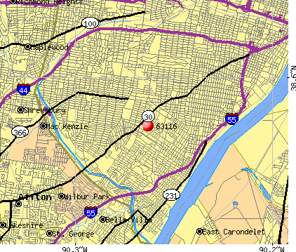 St. Louis, MO (63116) map