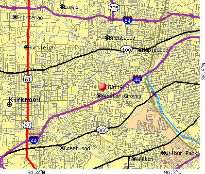 Webster Groves, MO (63119) map