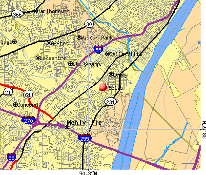 Lemay, MO (63125) map