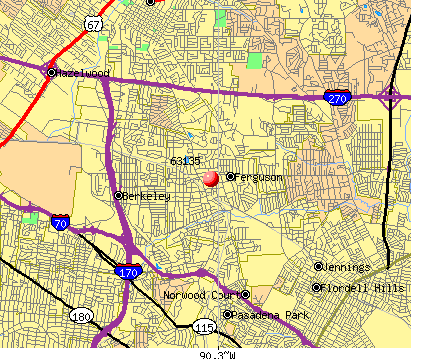 Ferguson, MO (63135) map