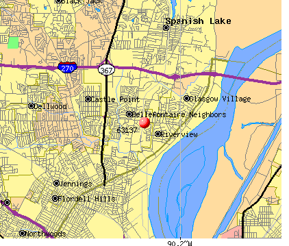 Bellefontaine Neighbors, MO (63137) map