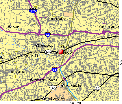 Maplewood, MO (63143) map
