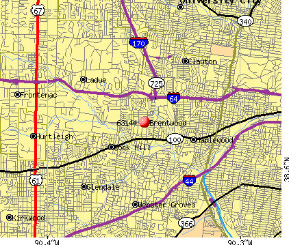 Brentwood, MO (63144) map