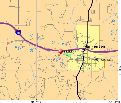 Warrenton, MO (63383) map