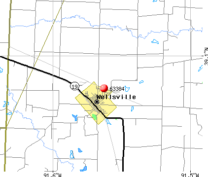 Wellsville, MO (63384) map