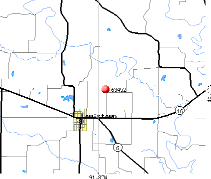 Lewistown, MO (63452) map