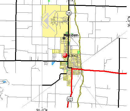 Malden, MO (63863) map