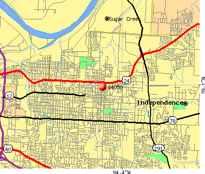 Independence, MO (64050) map