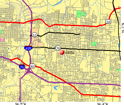Independence, MO (64052) map