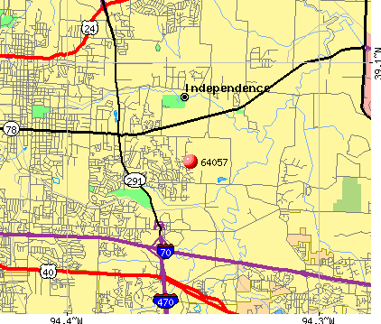 Independence, MO (64057) map