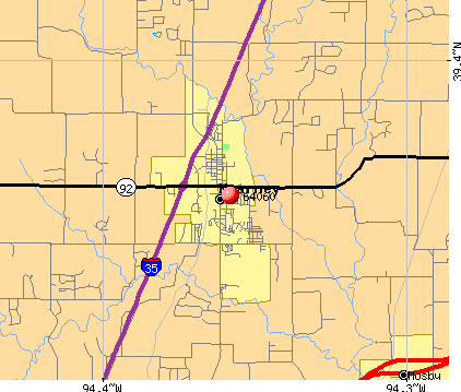 Kearney, MO (64060) map